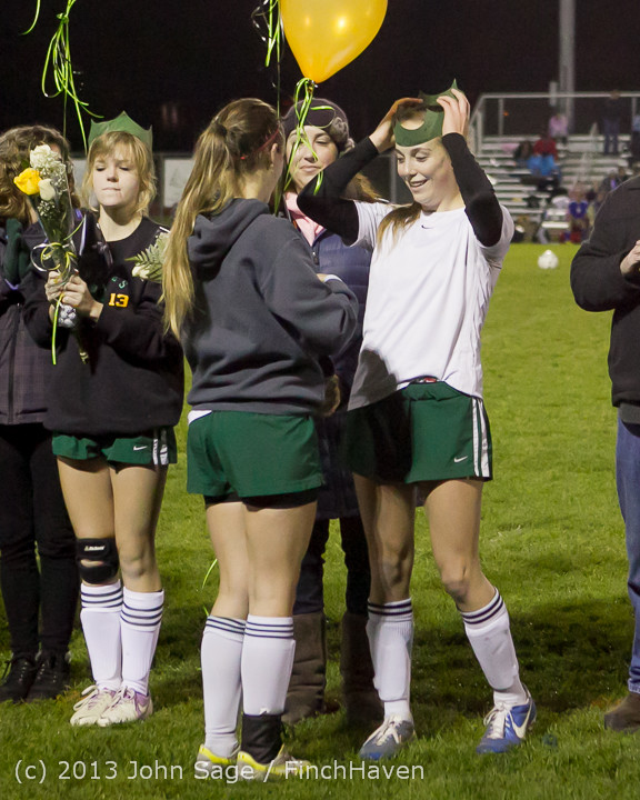 5600 VHS Girls Soccer Seniors Night 2013 102913