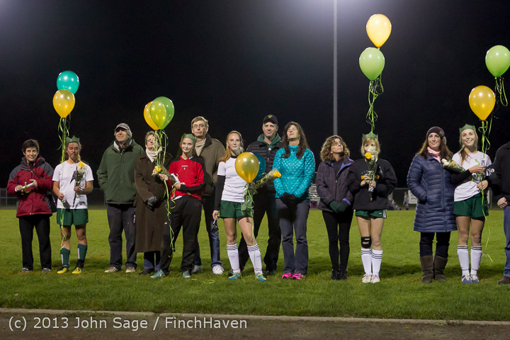 5624 VHS Girls Soccer Seniors Night 2013 102913