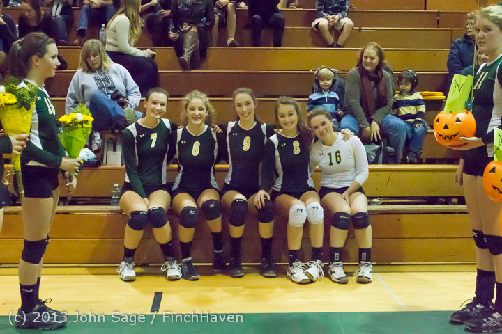 18018 VHS Volleyball Seniors Night 2013 102213