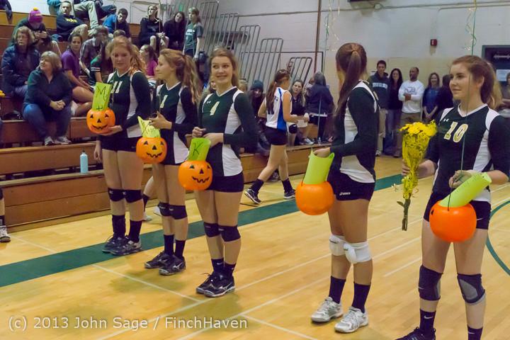 18020 VHS Volleyball Seniors Night 2013 102213
