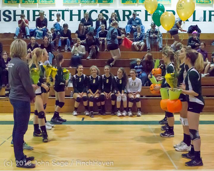 18027 VHS Volleyball Seniors Night 2013 102213