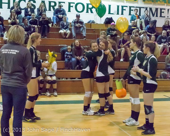 18049 VHS Volleyball Seniors Night 2013 102213