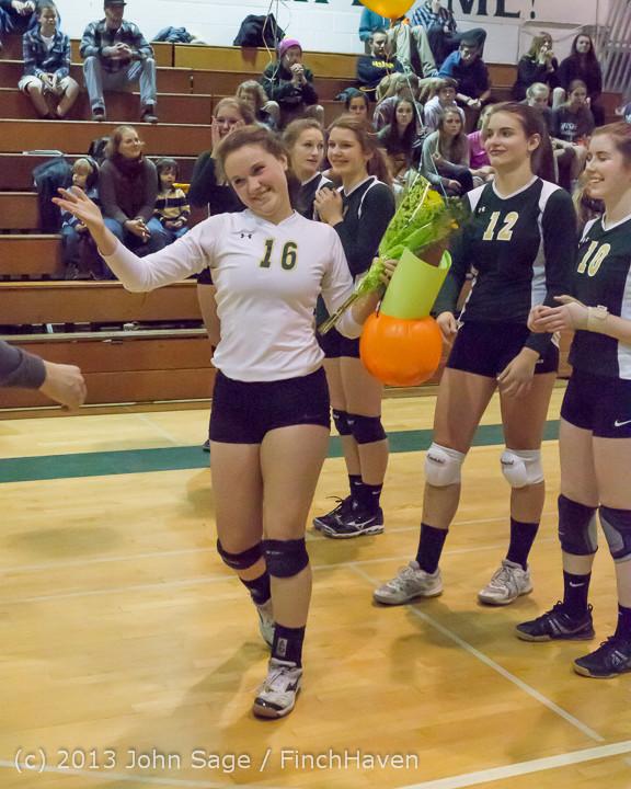 18083 VHS Volleyball Seniors Night 2013 102213