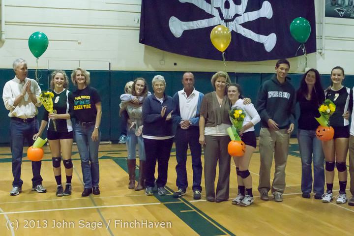 18116 VHS Volleyball Seniors Night 2013 102213
