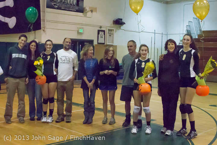 18121 VHS Volleyball Seniors Night 2013 102213