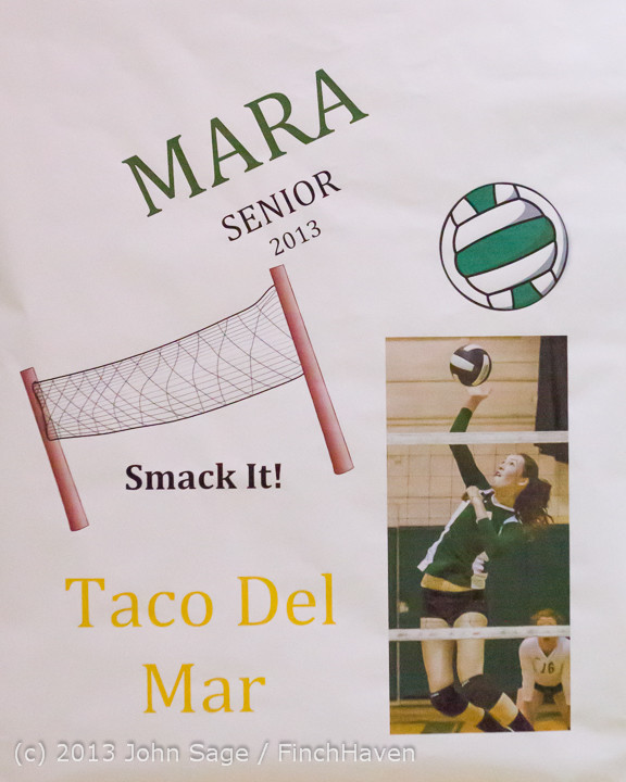 18157 VHS Volleyball Seniors Night 2013 102213