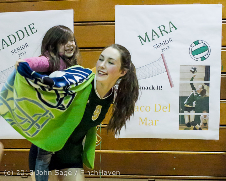 21472 VHS Volleyball Seniors Night 2013 102213