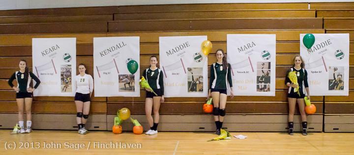 21481 VHS Volleyball Seniors Night 2013 102213