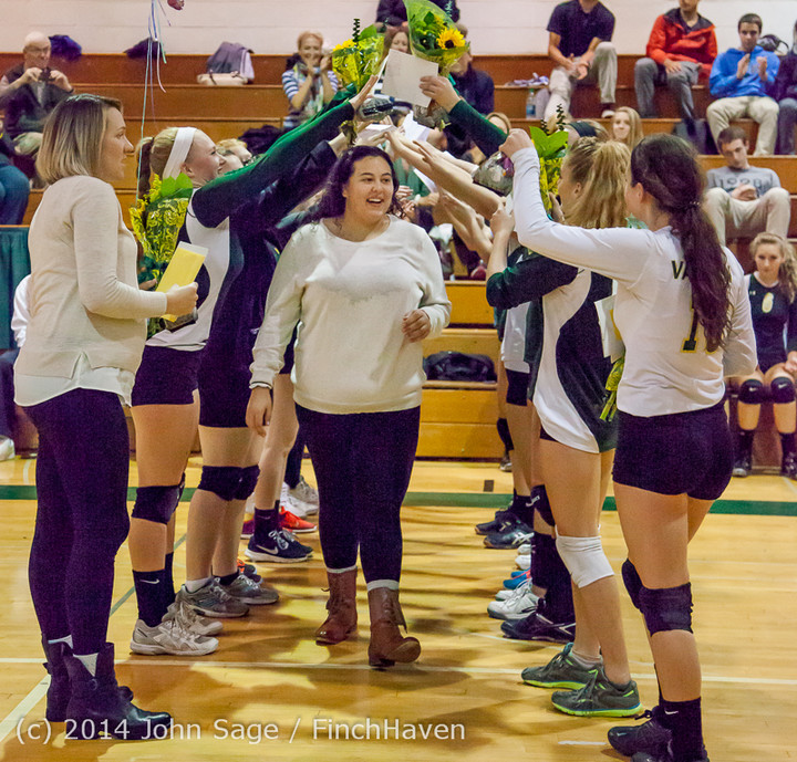 8051 VHS Volleyball Seniors Night 2014 102214