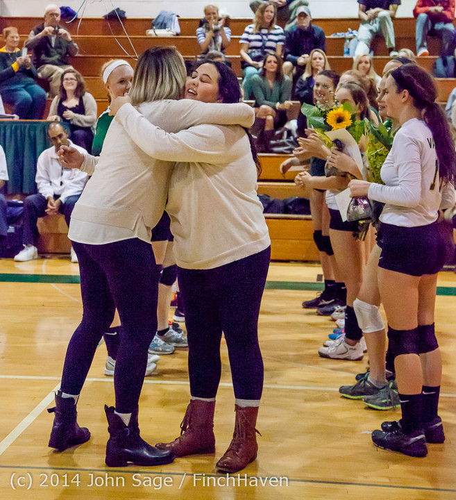 8054 VHS Volleyball Seniors Night 2014 102214