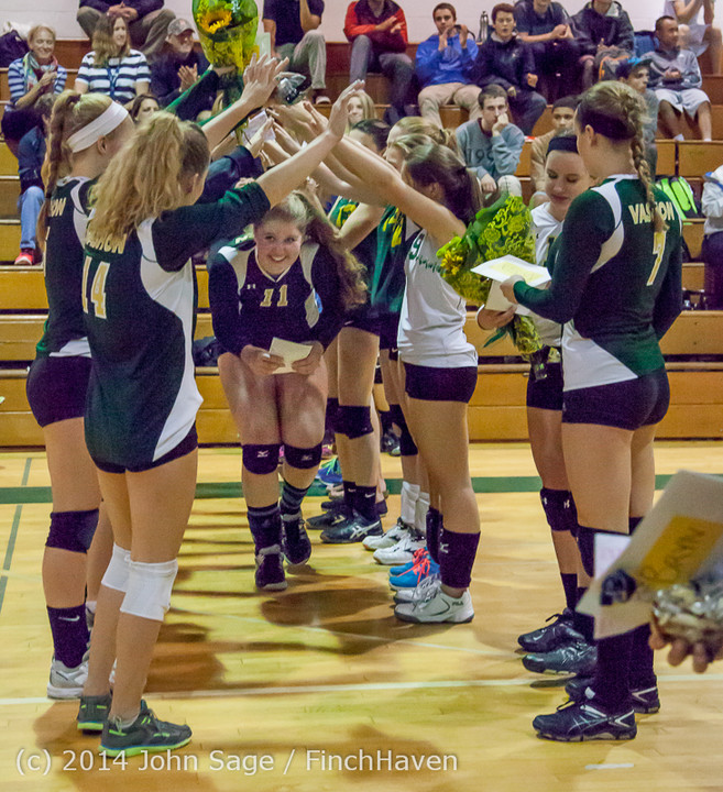 8077 VHS Volleyball Seniors Night 2014 102214