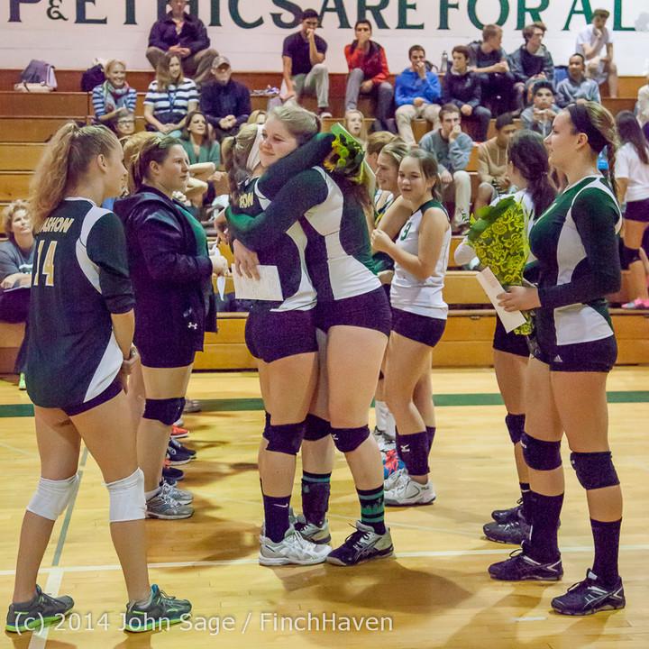 8084 VHS Volleyball Seniors Night 2014 102214