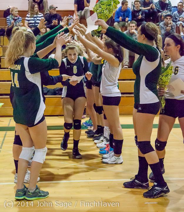 8089 VHS Volleyball Seniors Night 2014 102214