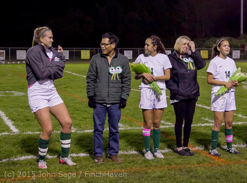 8090 VIHS Girls Soccer Seniors Night 2015 101515
