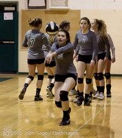 7111 Varsity Volleyball v Crosspoint 102315