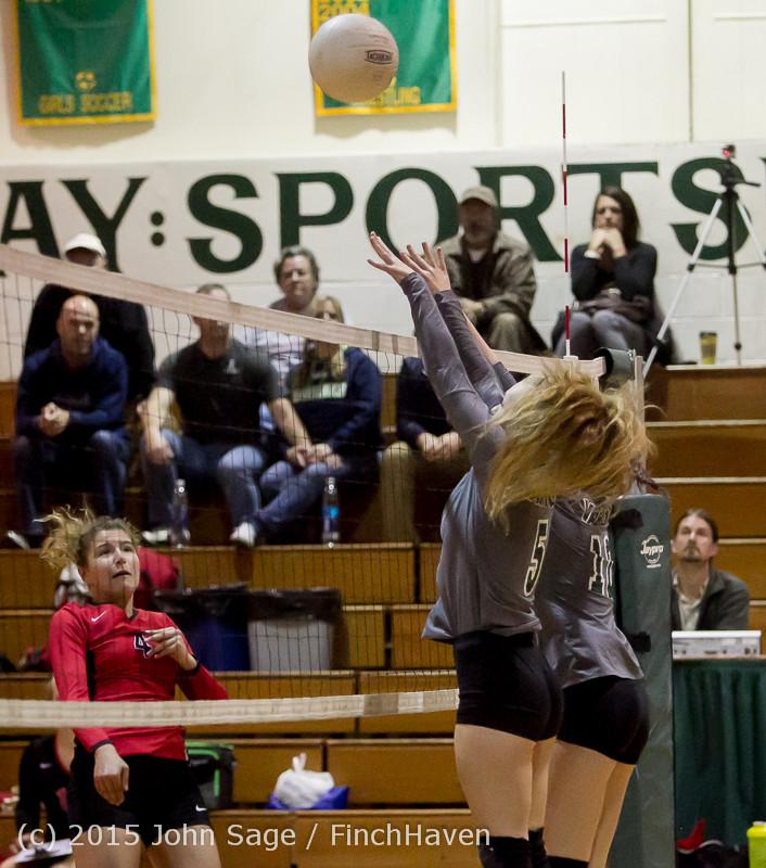 7458 Varsity Volleyball v Crosspoint 102315