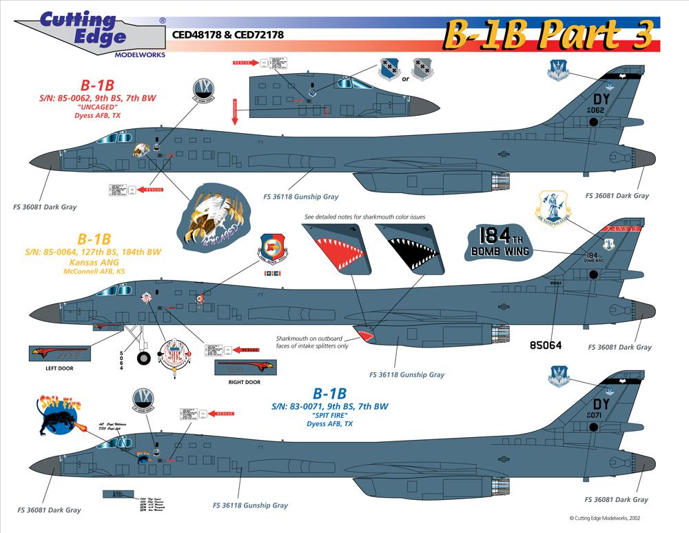 World's Best Model Airplane Decals   Cutting Edge Decals ... B1 Lancer Vs Tu 160