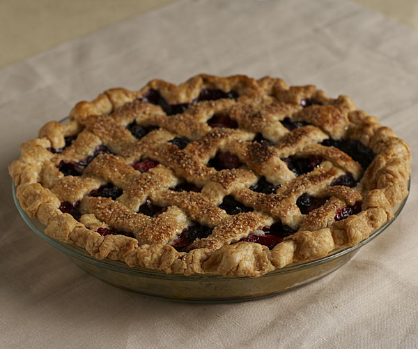 Lattice-Topped Mixed Berry Pie