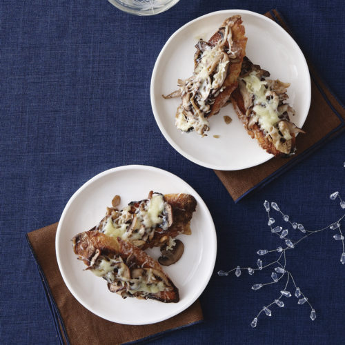 Warm Cheese & Mushroom Toasts