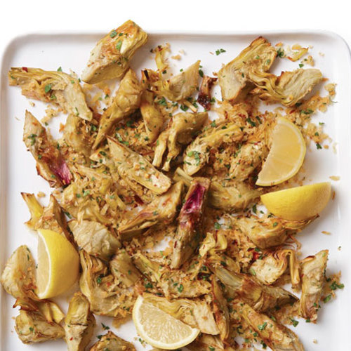 Garlicky Roasted Artichoke Hearts - FineCooking