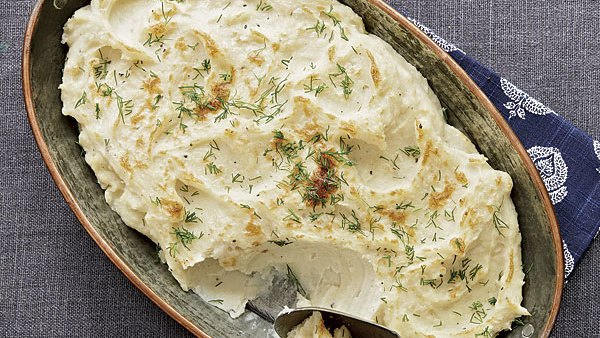 Cheesy Rutabaga and Potato Mash - Recipe - FineCooking