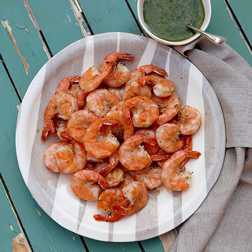 Grilled Shell-On Shrimp with Salsa Verde Dipping Sauce ...