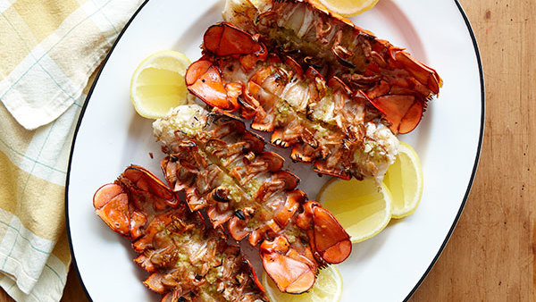 Grilled Lobster Tails with Spicy Citrus Butter - Recipe - FineCooking