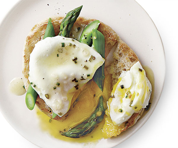 Beurre Blanc Sauce poached egg and asparagus toasts with lemon-chive beurre blanc
