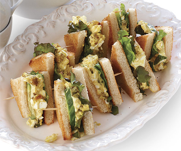 Curried Egg Salad and Cucumber Sandwiches - Recipe ...