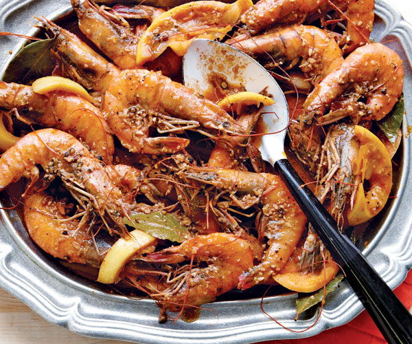 new orleans style bbq shrimp recipe finecooking. Black Bedroom Furniture Sets. Home Design Ideas