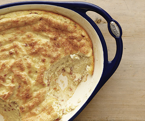Country Ham And Cheddar Spoonbread