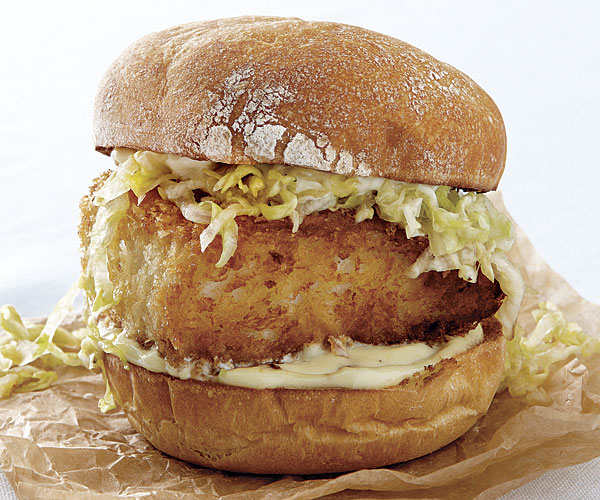 Crispy fish sandwiches with wasabi and ginger recipe for Fish sandwich recipe