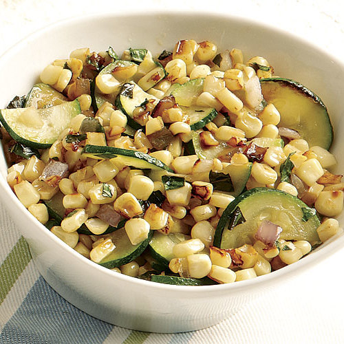 Charred Corn and Zucchini with Basil - FineCooking