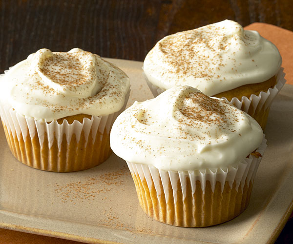 Maple Cream Cheese Frosting sweet potato cupcakes with maple cream cheese frosting - finecooking