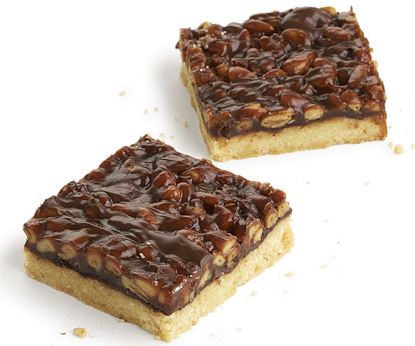 Pine Nut and Chocolate Caramel Bars - Recipe - FineCooking