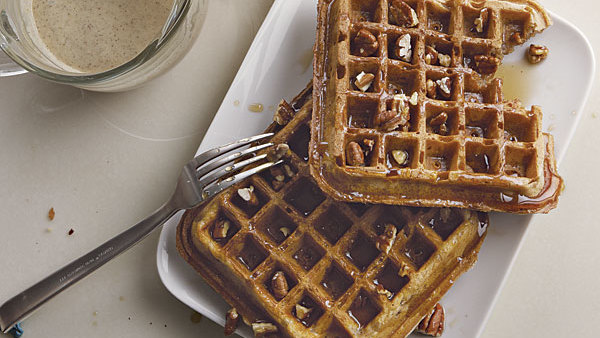Spiced Yogurt Waffles with Toasted-Pecan Maple Syrup ...