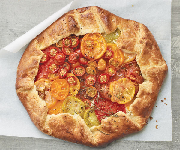 crème fraîche galette with heirloom tomatoes  finecooking, Beautiful flower