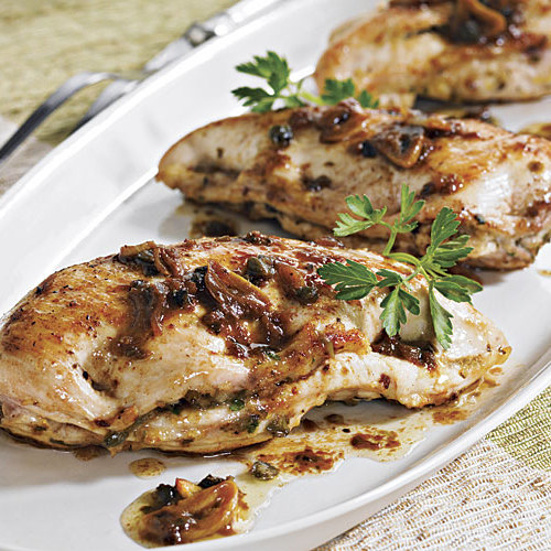 Lemon Chicken Breasts with Capers - FineCooking