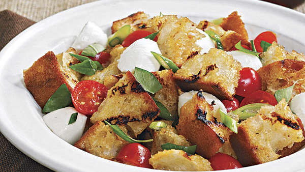 Bread Salad with Corn, Cherry Tomatoes & Basil - Recipe ...