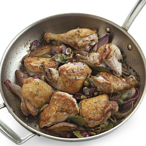 Pan-Roasted Chicken with Olives and Lemon - FineCooking