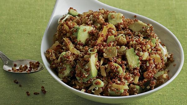 Quinoa and Avocado Salad with Dried Fruit, Toasted Almonds ...