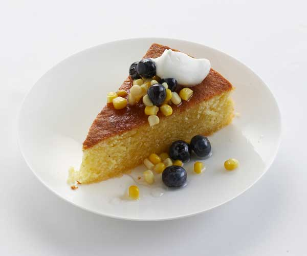Sweet Corn Cake with Blueberry-Lavender Compote - Recipe ...