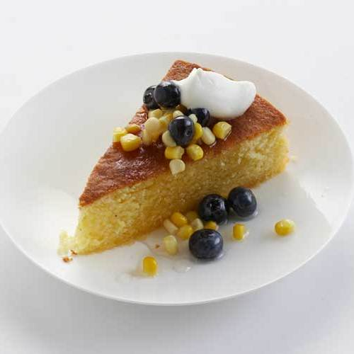recipe sweet corn cake with blueberry lavender compote here s another ...