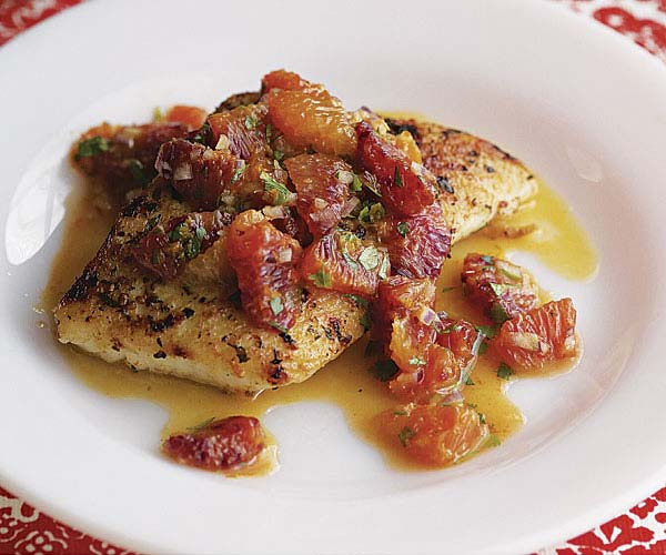 Sear-Roasted Halibut with Blood Orange Salsa - Recipe ...