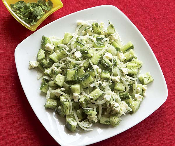 Cucumber & Feta Toss with Mint & Dill - Recipe - FineCooking