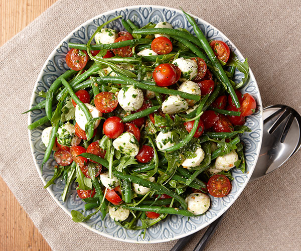 Green Bean Salad with Tomatoes, Arugula & Basil Dressing ...