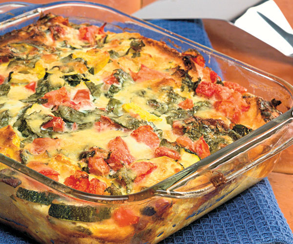 summer vegetable strata - Strata Egg Dish