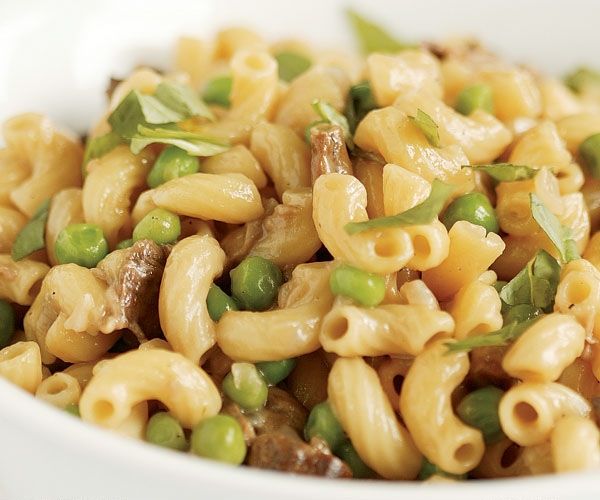 Risotto Style Pasta With Peas Mushrooms
