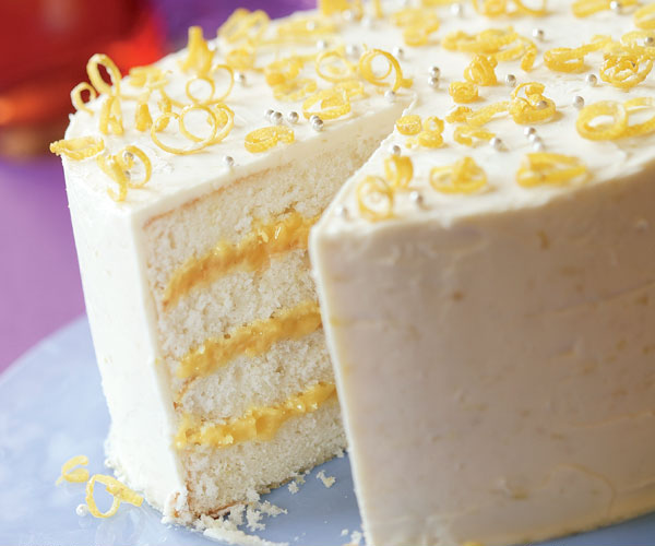 Lemon Cake Coconut Cream Cheese Frosting