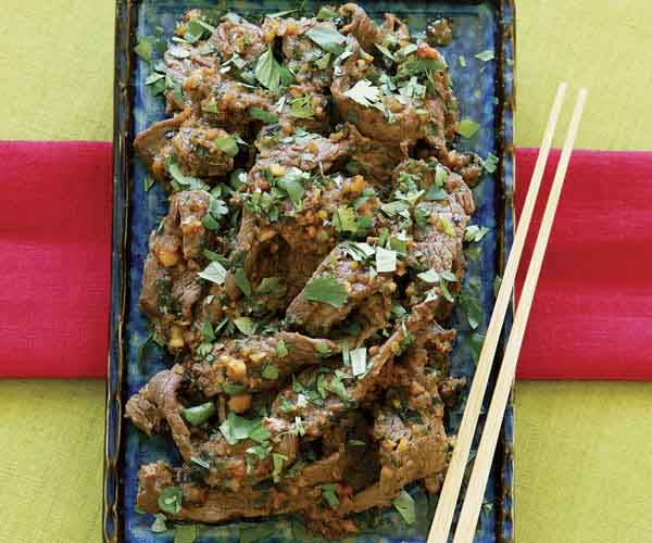 Spicy Beef with Peanuts & Chiles